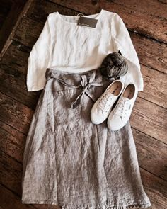 Step into summer with a pared-back spring in your step. Our #nygårdsanna linen wrap skirt and simple blouse make a perfect pair. Add a pair of crisp white #plimsoles and a cotton scarf and you're ready to go. Maybe carry a lightweight coat too ... just until we're sure the weather's here to stay. #moralifestyle #morastyle #linenlover #linenlove #bemoremora