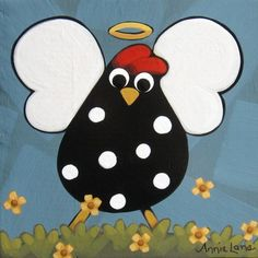 Whimsical Chicken Painting on Wood, Whimsical Folk Art Chicken, Whimsical Folk Art Angel, Whimsical Angel Painting Stone Painting, Painting On Wood, Painting Prints, Art Paintings, Chicken Painting, Chicken Art, Chicken Drawing, Chicken Quilt, Cartoon Chicken