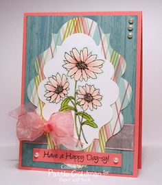 Happy Day-sy card created by Patti Goldman using DeNami Design stamps