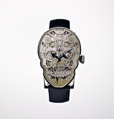 "Fiona Krüger's series of watches called ""memento mori"" (remember your mortality) are inspired from the Mexican Dia De Los Muertos and the century skull watch of Mary, Queen of Scots. Memento Mori, Unusual Watches, Cool Watches, Watches For Men, Fancy Watches, Amazing Watches, Beautiful Watches, Crane, Mary Queen Of Scots"