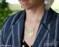 Amazing monogram necklace.