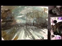 "Watercolor and sumi ink on 22""x30"" watercolor paper Timelapse video Music by Steven Cravis http://www.StevenCravis.com Find more paintings at http://www.storibe.etsy.com To view the complete painting: To purchase this painting: https://www.etsy.com/listing/124550445/new-england-landcape-no210-22x30"