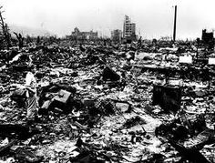 Japan picture taken after Hiroshima and Nagasaki nuclear bombings in 1945.