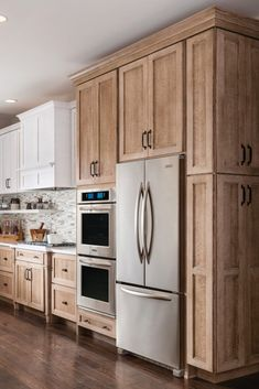 Dark, light, oak, maple, cherry cabinetry and wood kitchen cabinets cleaning tips. CHECK THE PIC for Various Wood Kitchen Cabinets. Custom Kitchen Cabinets, Kitchen Cabinet Design, Kitchen Redo, New Kitchen, Kitchen Ideas, Natural Kitchen Cabinets, White Cabinets, Rustic Wood Cabinets, Stained Kitchen Cabinets