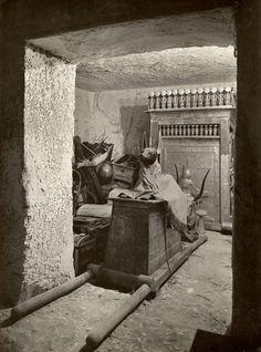 The portable Anubis jackal shrine of Tutankhamun.