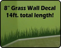 Grass Wall Decal border 14 ft total length  by WallCrafters