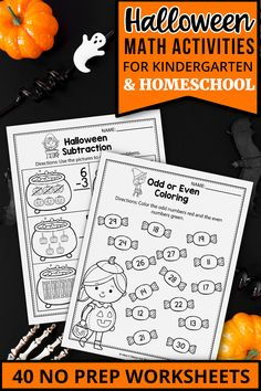 These kindergarten math worksheets for kindergarten were a great addition in my classroom. The set includes kindergarten math worksheets, activities, addition and subtraction activities, counting printables, color by number, ten frames and more. The kindergarten printables are so fun and include so many cute graphics, just like a game. The Halloween printables activities can be used during homeschool, or in the classroom for kindergarten and first grade students. #kindergartenclassroom Halloween Math Worksheets, Halloween Vocabulary, Literacy Worksheets, Thanksgiving Worksheets, Free Worksheets, Math Resources, Subtraction Activities, Kindergarten Math Activities, Math Math