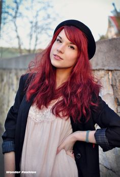 Dark red hair i want