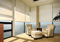 Gorgeous view with open bedroom roller window shade