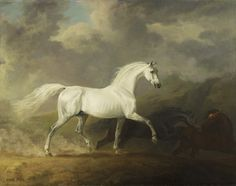 Frightened Horses    Sawrey Gilpin (1733-1807)     c.1780    Oil on canvas    Royal Collection ©    Sawrey Gilpin  worked for the Duke of Cumberland and later the Prince of Wales. This painting may have been executed for George III.