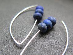 lapis earrings. cobalt blue earring. lapis lazuli jewelry. by Splurge on Etsy https://www.etsy.com/au/listing/450011806/lapis-earrings-cobalt-blue-earring-lapis