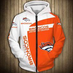 Denver Broncos Hoodie, Broncos Fans, Sweatshirt Outfit, Hoodie Jacket, Sports Shops, Nfl Sports, Nfl Football, White Hoodie, Full Zip Hoodie