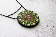 Mandala dots necklace for her  sacred geometry by DannaGart, $29.50
