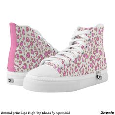 Animal print Zipz High Top Shoes Printed Shoes