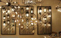 Exterior lighting displays in Village Home Stores showroom. | VillageHomeStores.com