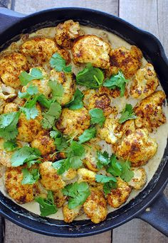 Creamy Curried Baked Cauliflower