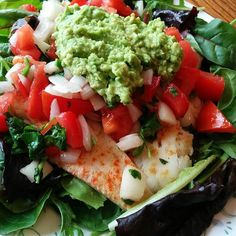 Flounder taco salad! #whole30 #paleolife #instafood #food #eatclean #cleaneating