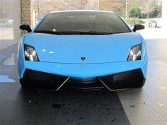 Blue Cephus @Lamborghini Gallardo with Superlegerra front fascia. From Motorcars of Georgia #LamboLove