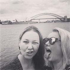 We're vintage classic @girlgeeza #black&white #sydneyoperahouse #sydneyharbourbridge #goodtimes #happiness #sillygirls #luckygirl #sydney #australia by nix_hindson5 http://ift.tt/1NRMbNv