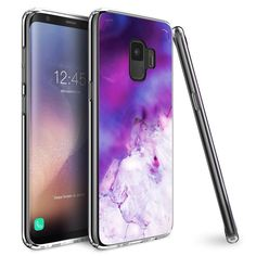 632457efe60e6 Galaxy S9 2018 Case Mueral Slim Fit Protective Case Cover Purple Lavender  Marble  UnbrandedGeneric