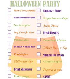 kids party planning checklist pdf