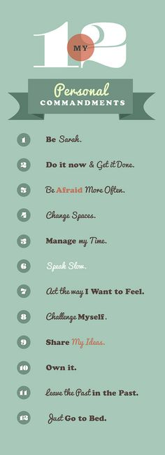 My 12 Personal Commandments from The Happiness Project