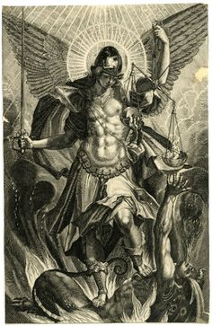 Raphael Sadeler II (after Pieter de Witte), 'St Michael in Armour Standing on the Dragon', 1604 Catholic Art, Religious Art, St. Michael Tattoo, Kreis Tattoo, Archangel Tattoo, Ange Demon, Biblical Art, Desenho Tattoo, Archangel Michael