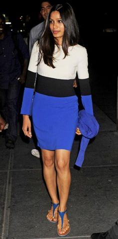 AUGUST 7, 2011 Freida Pinto Editor s choice WHAT SHE WORE In N.Y.C., Freida  Pinto 40e9bbdfb694