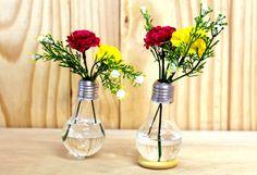 lamp vase - upcycling vaso de lâmpada - reaproveitamento Por Cris Oliveira