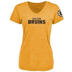 Women's Boston Bruins Design Your Own V-Neck Tri-Blend T-Shirt - $39.99