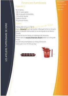 Financiers framboise - Tupperware