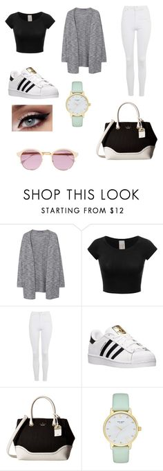 """Untitled #82"" by sadiecoda on Polyvore featuring Violeta by Mango, Topshop, adidas, Kate Spade and Sheriff&Cherry"