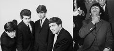 Original Beatles w/ drummer Pete Best (Left) Ringo Starr (Right)