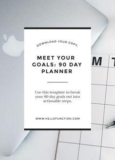 Meet your goals : 90 day panner for entrepreneurs