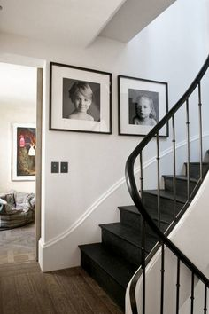 A bold statement, dark-toned staircases can work in any space.