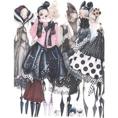 Marc Jacobs squad illustrated by Camille Pfister