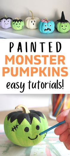 Step by Step Tutorials: 5 Monster Pumpkins!