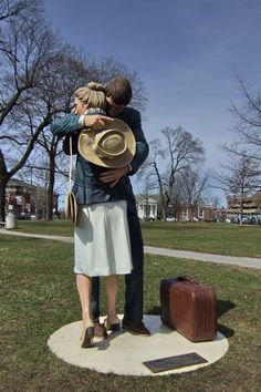 Summit N. 'Contact # Date of Work Material Enameled bronze. 68 in x 30 in By J Seward Johnson jr of Born in New Jersey Seward Johnson, Car Purchase, New Jersey, Sculpture Art, Cars For Sale, Jr, Fun Facts, Street Art, Bronze