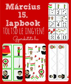 Március 15-e lapbook - ingyen letölthető - Gyereketető Prep School, School Decorations, Interactive Notebooks, Spring Crafts, Techno, Homeschool, Crafts For Kids, March, Activities
