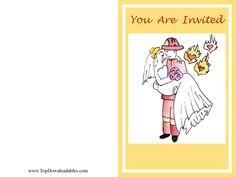 Fire Fighter Theme Wedding #Invitation