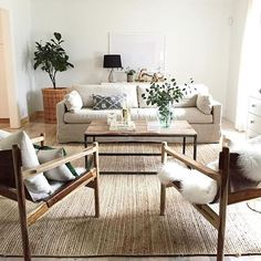 A chic natural, neutral living room by Anissa from House Seven gets recreated for less by copycatchic luxe living for less budget home decor and design Living Room Sofa, Home Living Room, Apartment Living, Living Room Furniture, Living Room Designs, Living Room Decor, Living Spaces, Apartment Therapy, Earthy Living Room