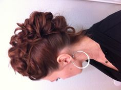 Mohawk updo.. By me on me