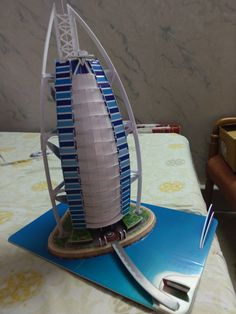 Model of burj-al-arab School Projects, School Ideas, Burj Al Arab, Lego Architecture, Scissors, Dubai, Home Appliances, Model, House Appliances