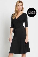 Orsay Sukienka kopertowa - zdjęcie 1 Dresses For Work, Black, Fashion, Moda, Black People, Fashion Styles, Fashion Illustrations