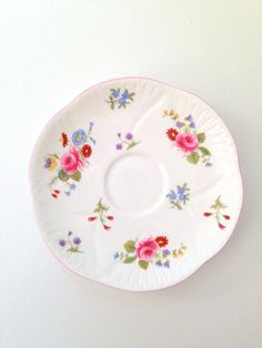 Antique Shelley Fine Bone China Saucer Rose & by MariasFarmhouse, $39.00
