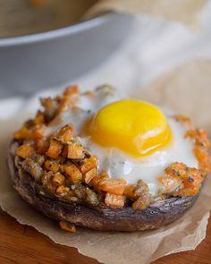 Sausage + Sweet Potato Stuffed Portabello