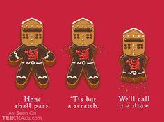 Gingerbread Knight T-Shirt - http://teecraze.com/gingerbread-knight-t-shirt/ -  Designed by spiritgreen    #tshirt #tee #art #fashion