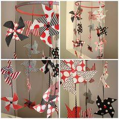 Patriotic Pinwheel Mobiles