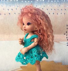 Realpuki Wig  Mohair  Cinnaberry Curly  by by WeeDollyWears