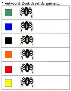 * Zoek dezelfde spinnen..... 2-2 Pico, Halloween, Spinning, Spooky Halloween